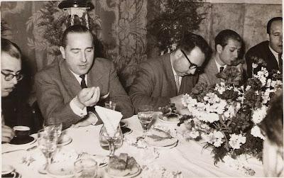 Chocolatada en el Bar La Joia durante el I Torneo Nacional Agustí Pujol 1951
