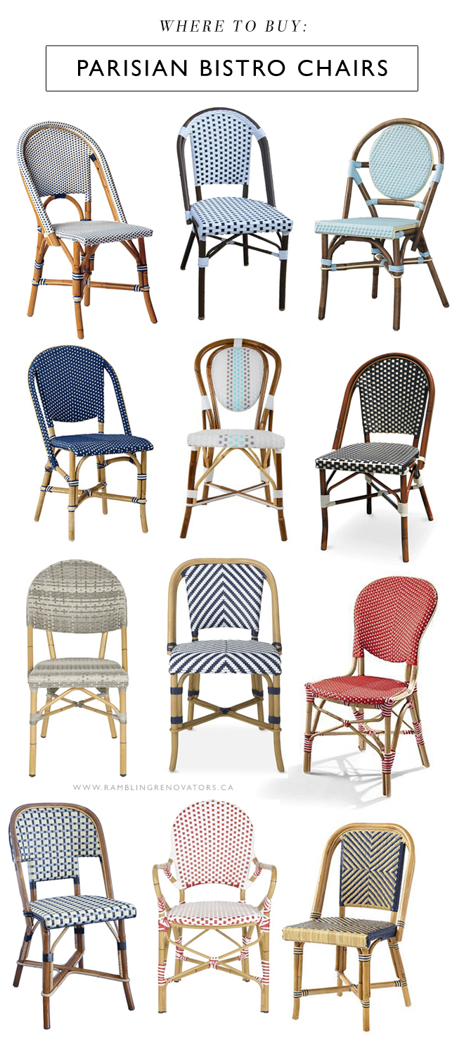 where to buy parisian bistro chairs french cafe chairs