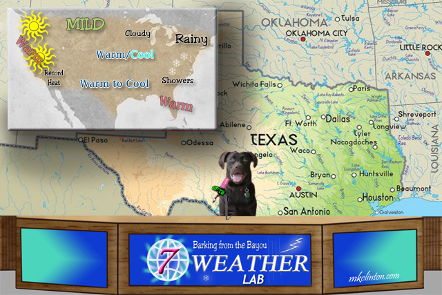 Paisley the Weather Lab with the BFTB NETWoof Weather for the United States
