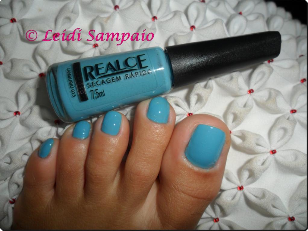 .Trocando de esmalte.: Esmalte nos pés : Equilibrista