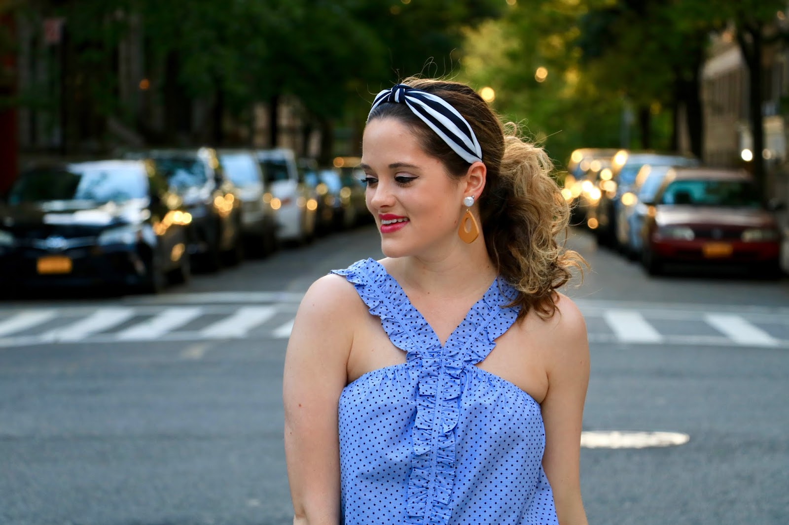 Nyc fashion blogger Kathleen Harper's springtime date night outfit.