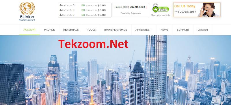 [SCAM] Review 6Union.Net - Lãi lên tới 6% hằng ngày cho 30 ngày - Min Dep 10$ - Min Pay 0.25$ - Thanh toán Manual