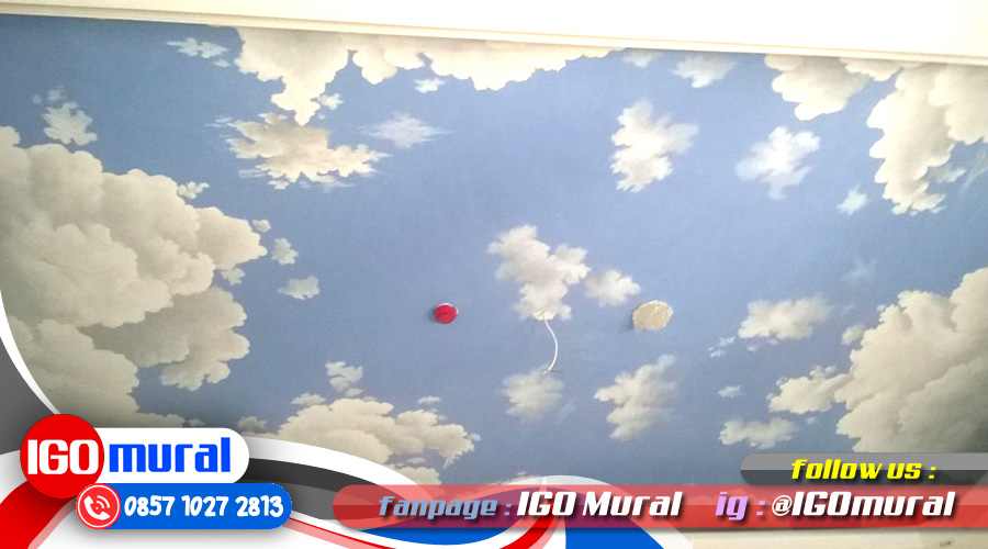 Painting Clouds on Ceiling