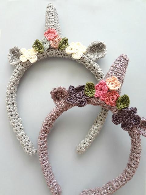 Crochet Unicorn Headbands