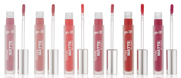 p2 total matte lip creams