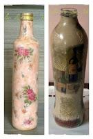 garrafas decoradas decoupage