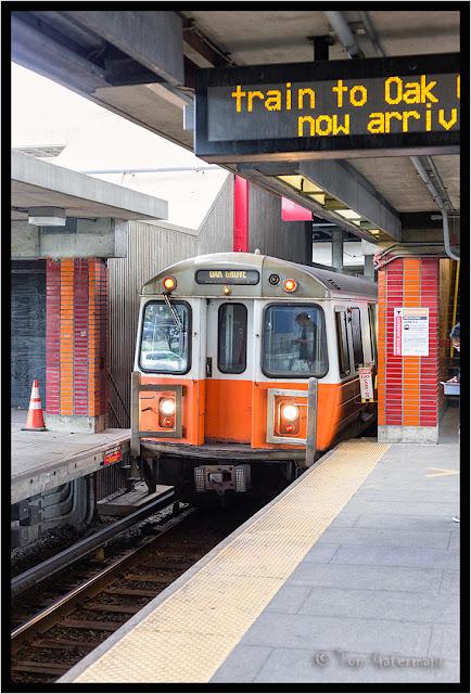 MBTA Orange Line Train at Community College Station