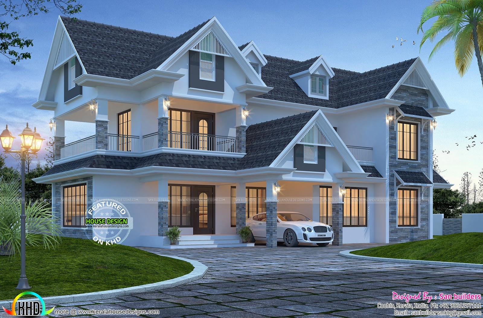 Awesome Western Style 2600 Sq Ft Home Kerala Home Design