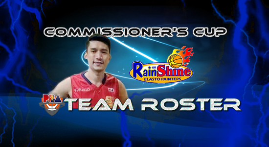 List of Rain or Shine Elasto Painters Roster (Lineup) 2017 PBA Commissioner's Cup