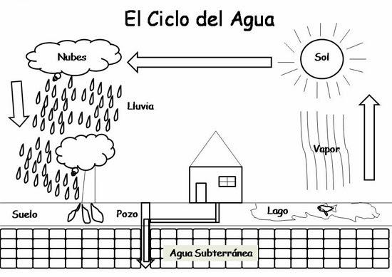 Dibujos Para Colorear Del Ciclo Del Agua Para Ninos: El Ciclo Del Agua Para Colorear