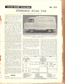 Standard Atlas Van - first page from Motor Trader article 351