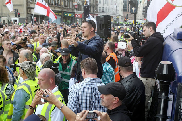 Tommy Robinson and his supporters