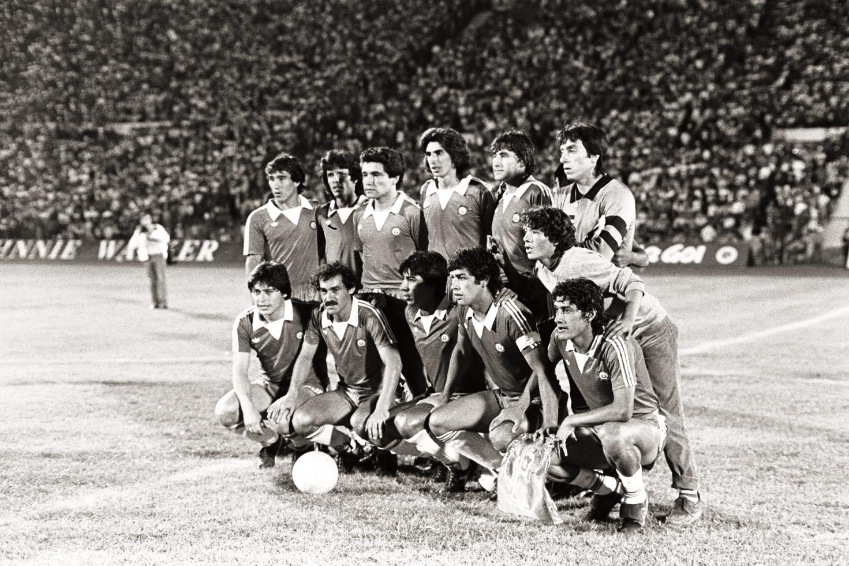 Formación de Chile ante Perú, amistoso disputado el 24 de febrero de 1985