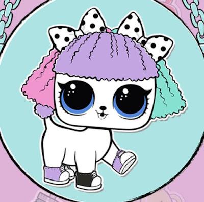 Собачка LOL Surprise с бантиками и цветными волосами
