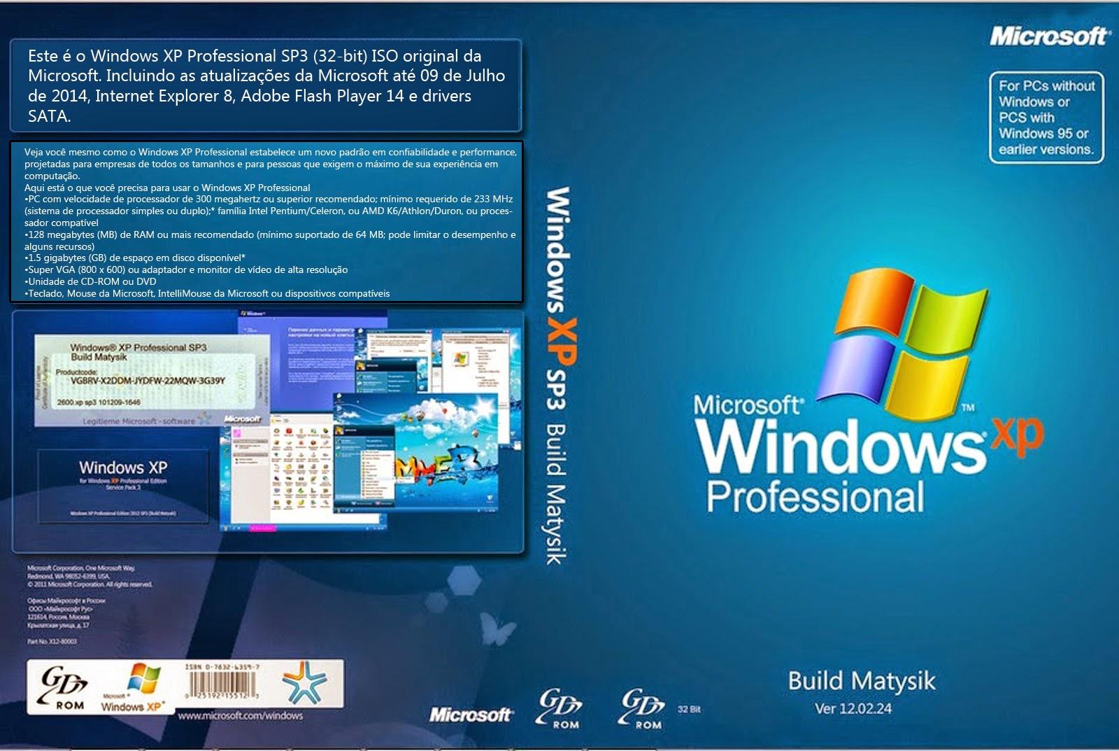 windows xp sp3 atualizado agosto 2012