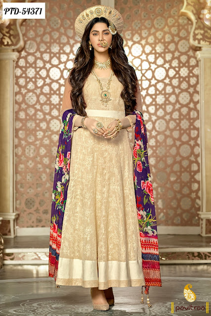 Bajirao Mastani designer wedding anarkali salwar suits online shopping with lowest prices in Surat India