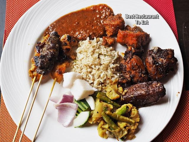 Zest Restaurant Hi-Tea - Nasi Goreng with Ayam Masak Merah, Satay, Tauhu Tempe Sambal