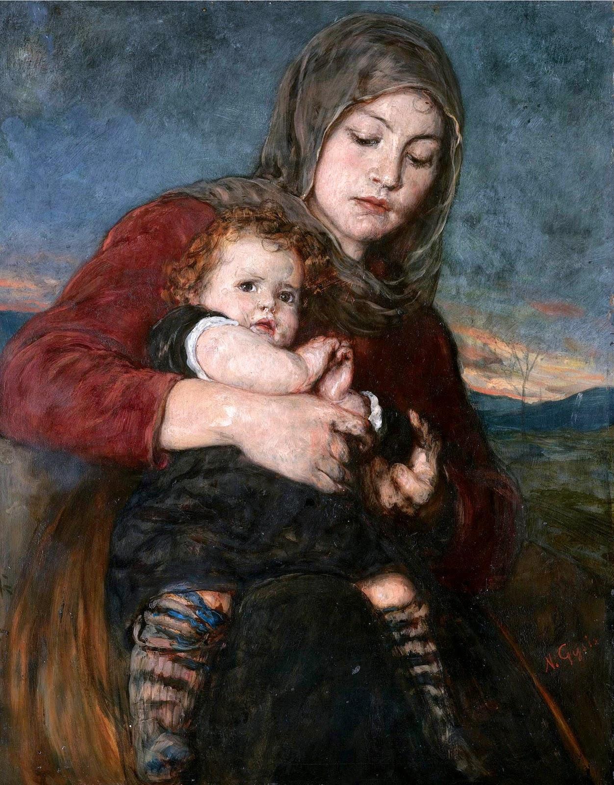 Nikolaos Gyzis E Mother and Child C