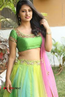 Actress Nikitha Bisht Stills in Lehenga Choli at Pochampally Ikat Art Mela Launch  0075.JPG