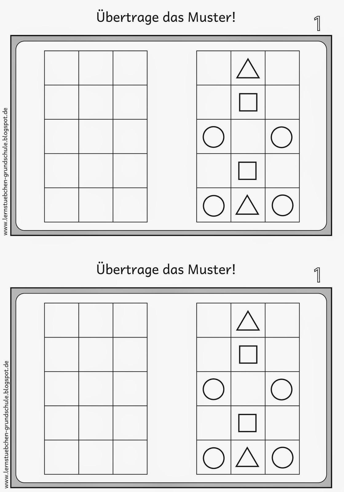 Lernstübchen: Muster übertragen für Linkshänder (1)