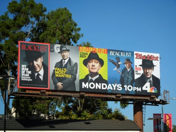 The Blacklist season 2 magazine cover billboard