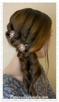 Side Swept #Prom Hairstyle.  Easy Video Tutorial.  So Pretty!