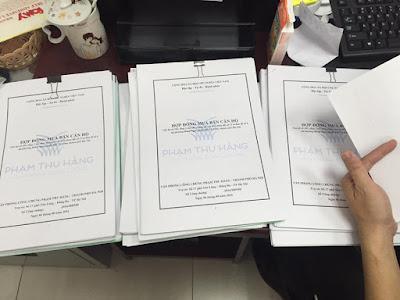 Minh Đại Lộc công chứng tách sổ hồng cho chung cư mini ngày 6/8/2016