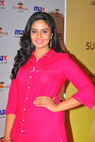 Sree Mukhi in Pink Kurti looks beautiful at Meet and Greet Session at Max Store (27).JPG