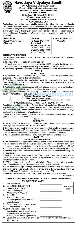 Navodaya Vidyalaya Samiti Recruitment 2017