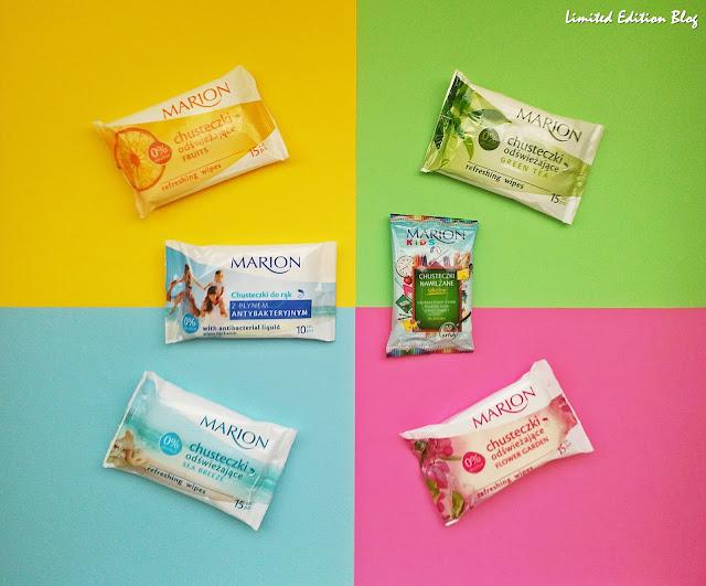 Chusteczki odświeżające MARION - kolorowo i pachnąco