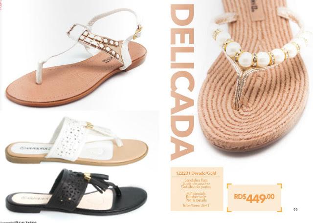 Sandalias decoradas  de moda  : calzados
