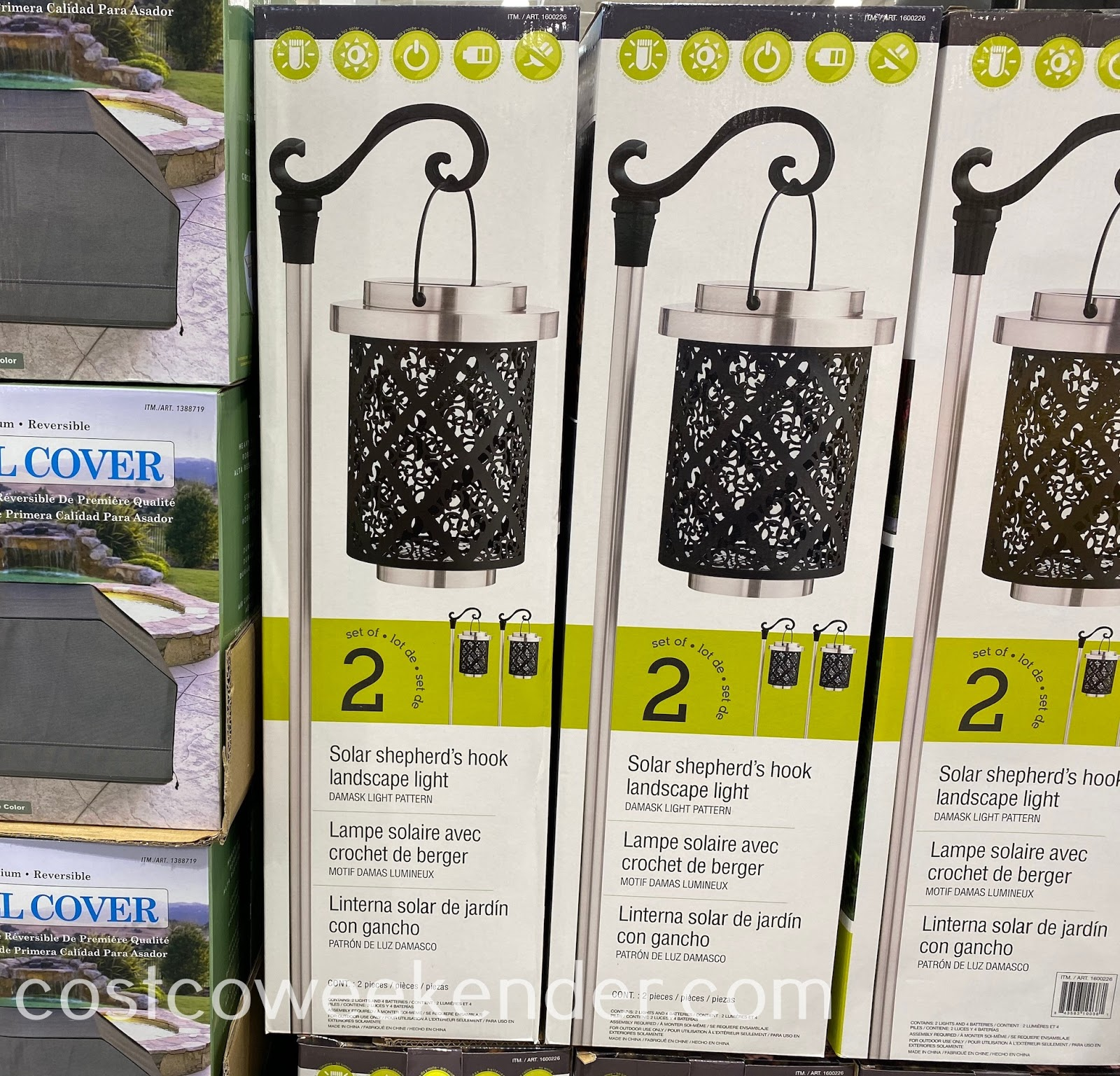 Add some light and decor to your yard with GTX Solar Shepherd's Hook Landscape Lights