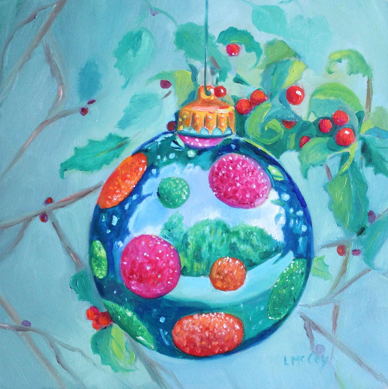 Mccoys Christmas Trees: Linda McCoy: Christmas Ornament Ll Oil Painting 2016