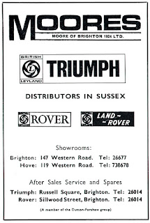 Moores of Brighton 1970 advert 2