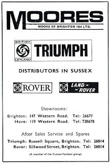 Moores of Brighton 1970 advert 2