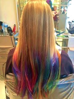 rambut ombre menggunakan konsep filosofi warna jadi kalian harus pintar memillih paduan gradasi karena hair tidak hanya terdiri dari satu macam