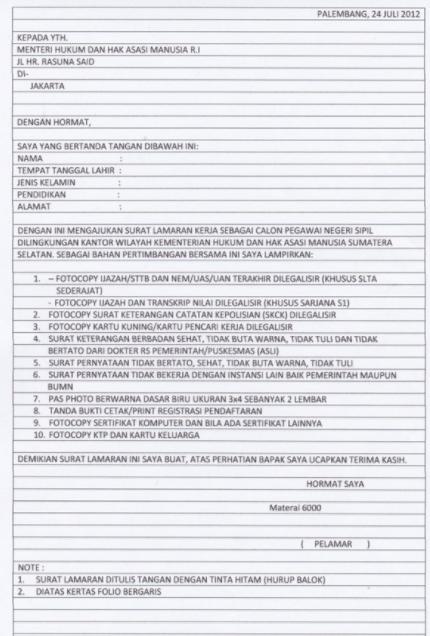 40 Contoh Surat Lamaran Kerja Yang Baik Dan Benar Lengkap Doc Contoh Surat Lamaran Kerja