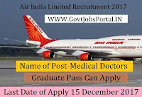 Air India Recruitment 2017– Medical Doctors
