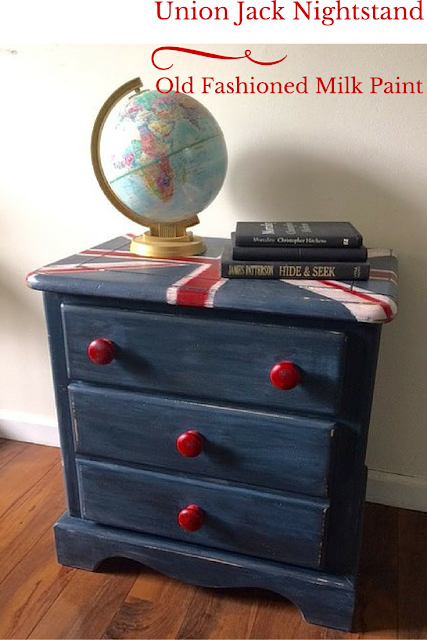 http://ourcraftymom.com/old-fashioned-milk-paint-union-jack-nightstand/