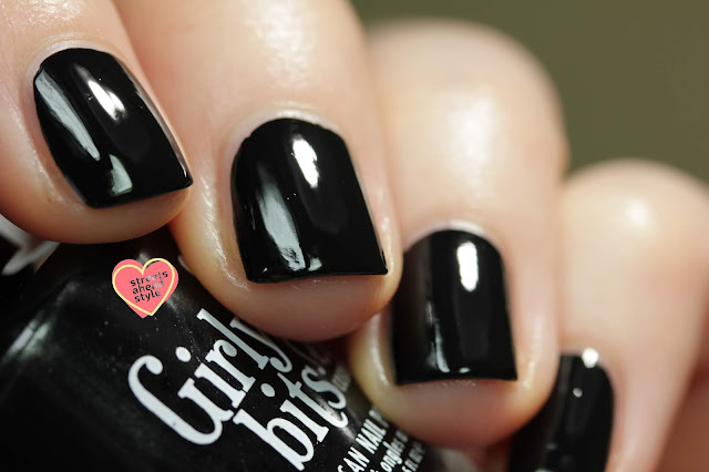 Girly Bits it's definitely you one coat black creme swatch by Streets Ahead Style