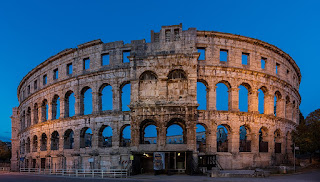Pula's first century Colosseum is one of many Roman  relics in the former Italian city in Istria