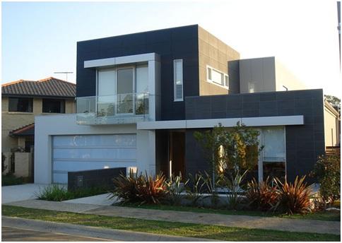 Construindo minha casa clean fachadas de casas quadradas for Colores para fachadas de casas 2016