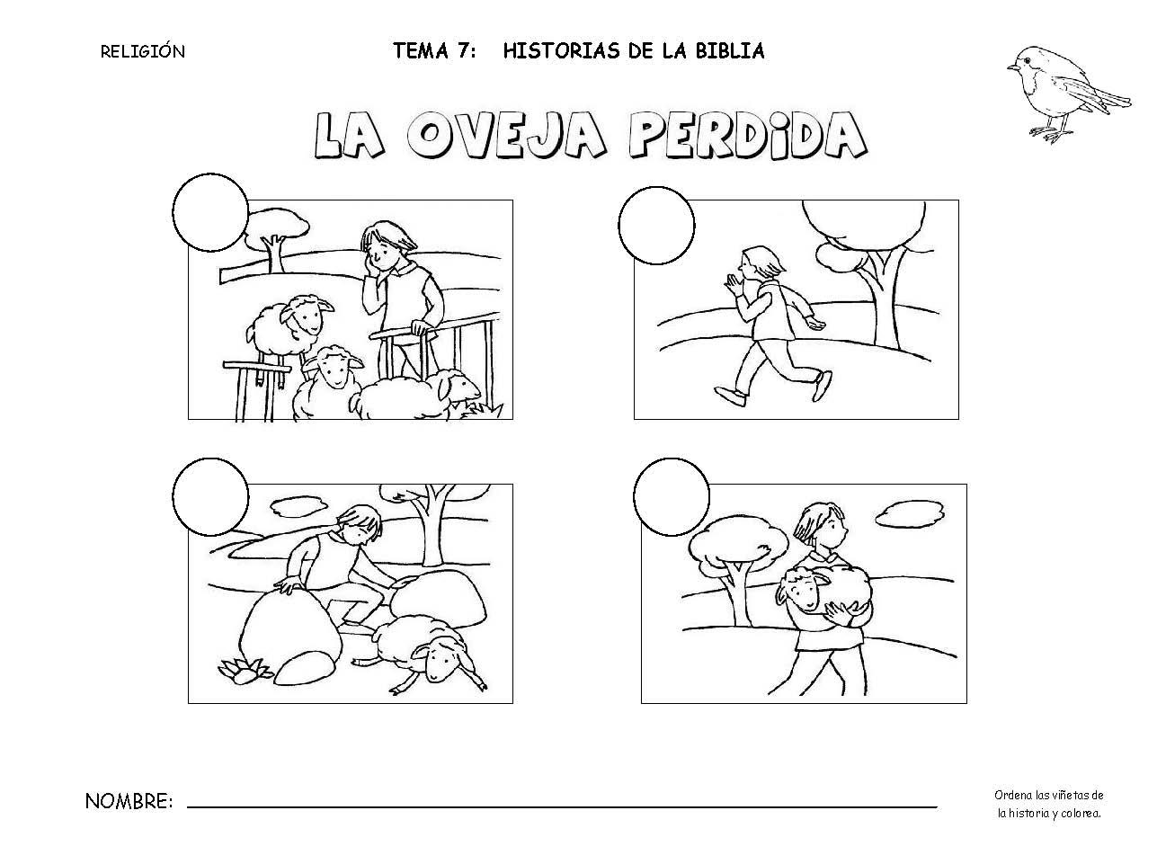 Único Las Ovejas Perdidas Para Colorear Festooning - Ideas Para ...