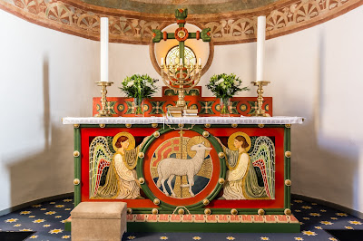 cross, church, altar, candlestick, flowers, angels, christian, sanctuary, denmark, holy, candles, christianity, editorial, lamb of god, agnus dei, tveje merlose, altar table, seven-branched, https://www.shutterstock.com/image-photo/altar-two-angels-lamb-god-on-564266632