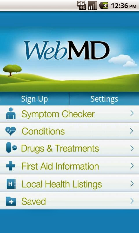 Sign Up WebMD for Symptom Checker App and Baby App