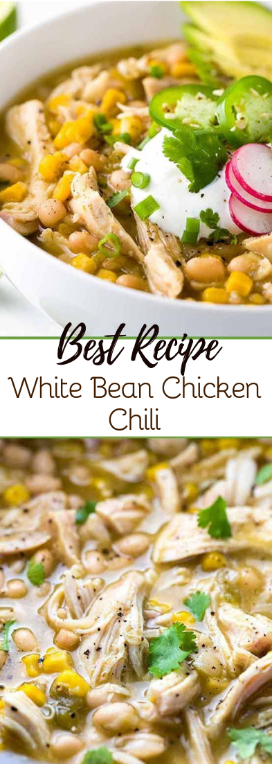 White Bean Chicken Chili #healthyfood #dietketo
