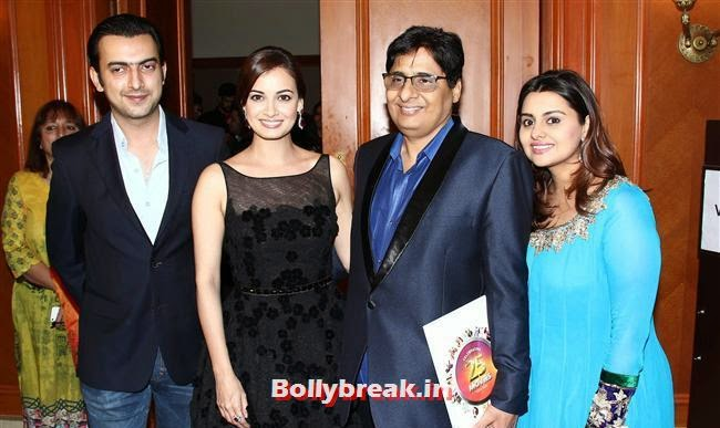 Dia Mirza, Vashu Bhagnani's Puja Films 25 Film Completion Party