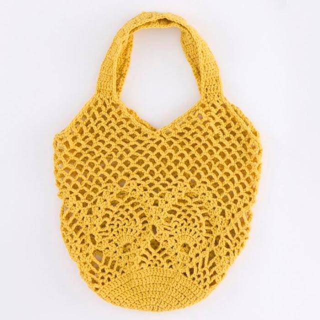 Bolso Amarillo a Crochet