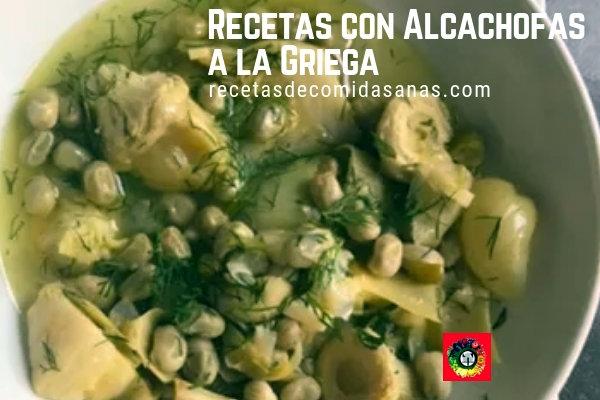 Recetas con Alcachofas a la Griega