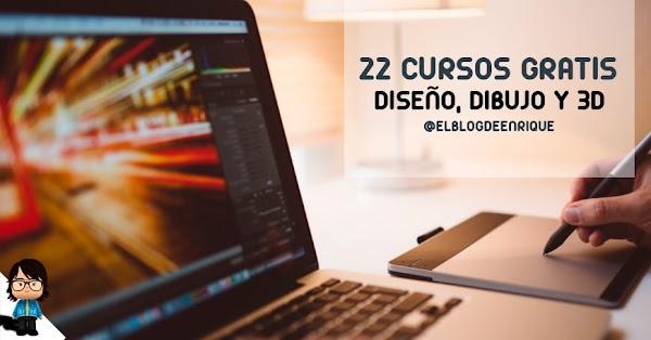 22 cursos en linea de diseño gráfico, dibujo y 3d gratis